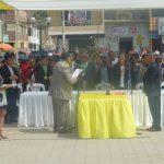 Protocolo de Juramentación del nuevo alcalde del distrito de Paramonga Sr. Eduardo Garcia Pagador y su plana de regidores