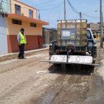 Se viene realizando la nivelación de las Avenidas Jazmines, Tulipanes y Azucenas.