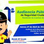 MUNICIPALIDAD DISTRITAL DE PARAMONGA REALIZARÁ LA PRIMERA AUDIENCIA PÚBLICA DE SEGURIDAD CIUDADANA