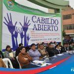 IMÁGENES DEL CABILDO ABIERTO EN PARAMONGA