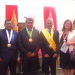 Alcalde distrital de Paramonga Eduardo Garcia Pagador acompaña en el protocolo de juramentación al nuevo alcalde de la Provincia de Barranca y a su plana de regidores.