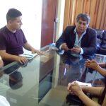 Primer día de trabajo del Alcalde distrital de Paramonga y su plana de regidores