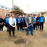 ALCALDE EDUARDO GARCÍA PAGADOR COLOCA PRIMERA PIEDRA DE LA OBRA CONSTRUCCIÓN DE BERMAS Y ÁREAS VERDES EN LA AVENIDA GRAU