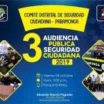 VIERNES 04 DE OCTUBRE: 3RA AUDIENCIA PÚBLICA DE SEGURIDAD CIUDADANA