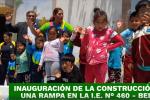 INAUGURAMOS LA CONSTRUCCIÓN DE UNA RAMPA DE LA I.E. N° 460 – BELÉN