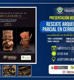 PRESENTACIÓN DEL LIBRO: RESCATE ARQUEOLÓGICO PARCIAL EN EL CERRO LA HORCA